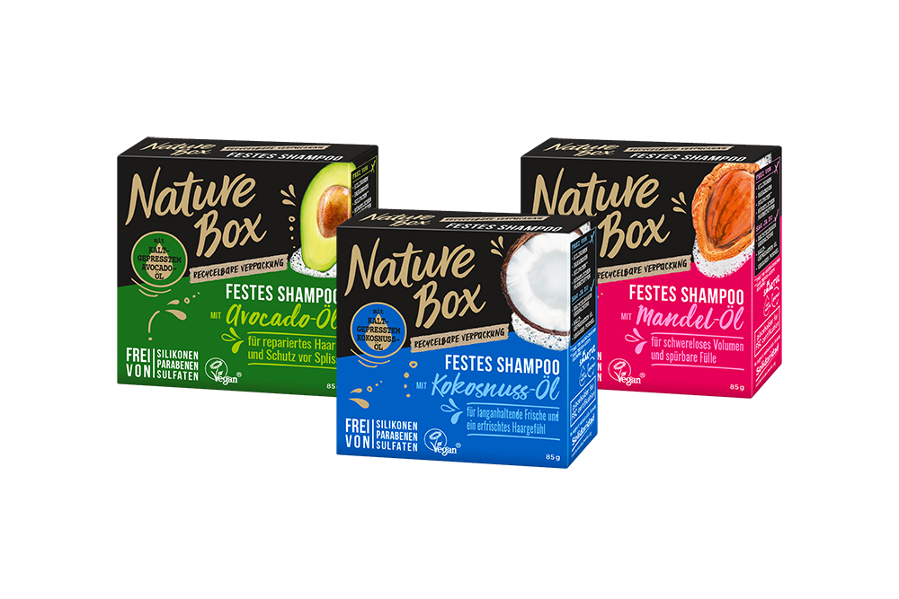 Nature Box Festes Shampoo Avocado, Kokosnuss, Mandel