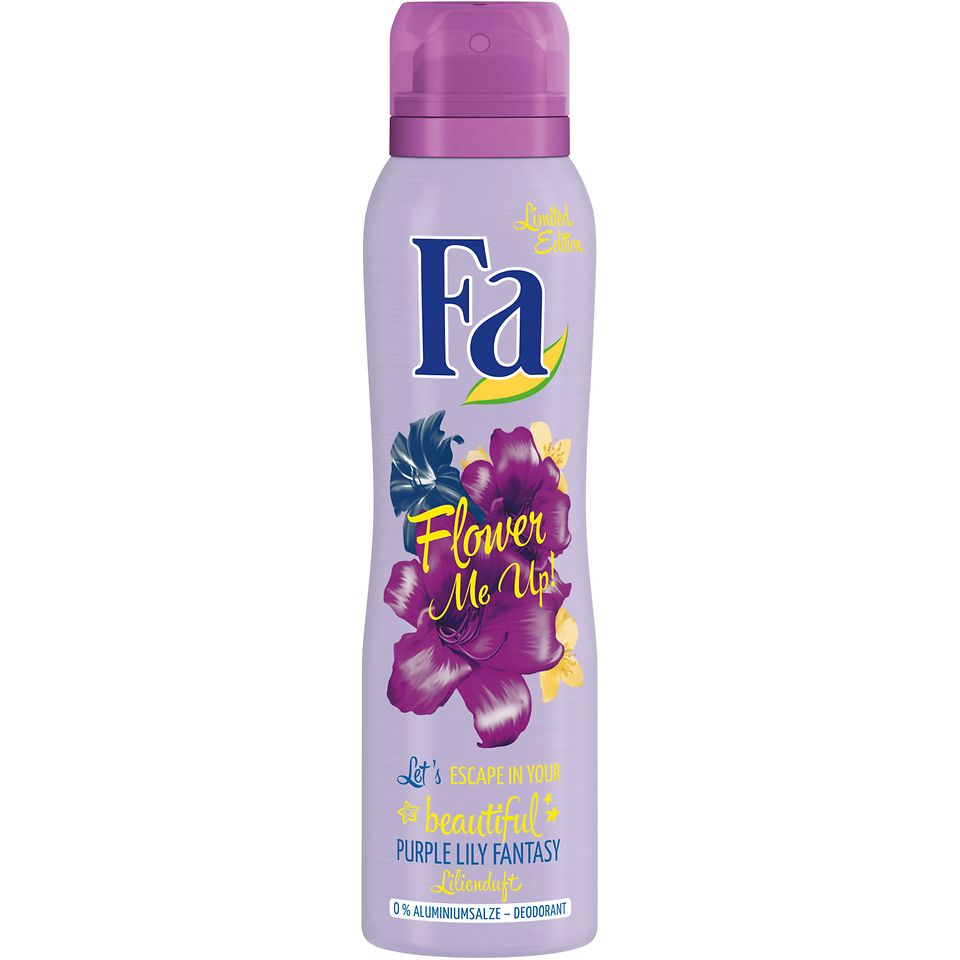 Fa Flower Me Up! beautiful Purple Lily Fantasy Deodorant