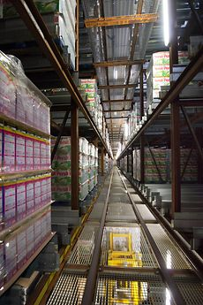The new high-bay warehouse